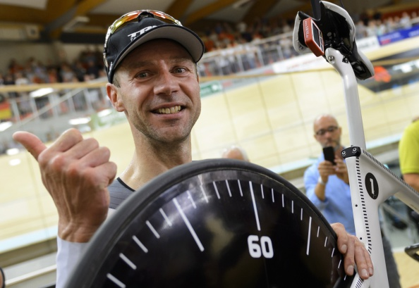 Jens Voigt broke the hour record, which has stood for nine years ©AFP/Getty Images