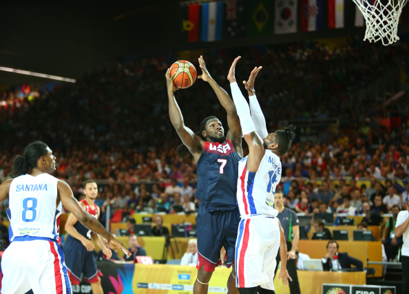 Kenneth Faried helped guide the US to another win at the Basketball World Cup in Spain ©Getty Images