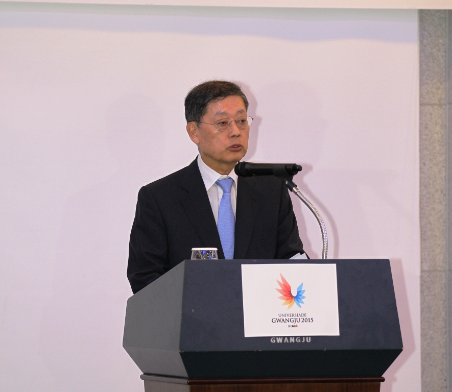 Kim Hwang-sik has been elected as the co-chairman of the Gwangju 2015 Organising Committee ©Gwangju 2015