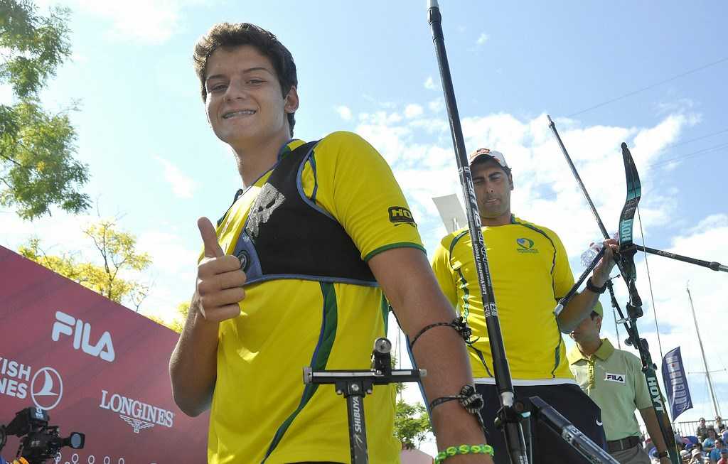 Marcus D'Almieda narrowly missed out today but is set to be a future star of the sport ©World Archery