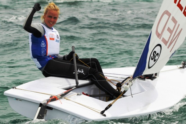 Marit Bouwmeester of The Netherlands sealed World Championship gold in the Laser Radial class in Santander ©Getty Images