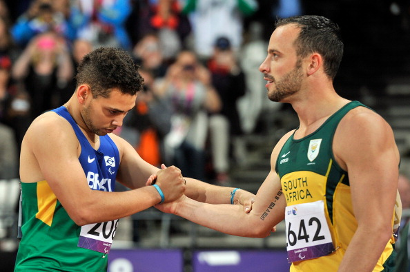 Oscar Pistorius' defeat to Alan Oliveira in the 200m T44 final at London 2012 was voted the 26th best moment of the last 25 years, the IPC has said ©AFP/Getty Images