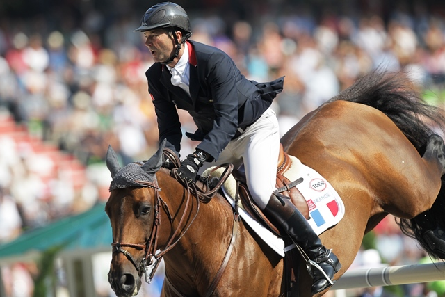 Patrice Delaveau leads the individual jumping competition on home soil in Normandy ©Getty Images