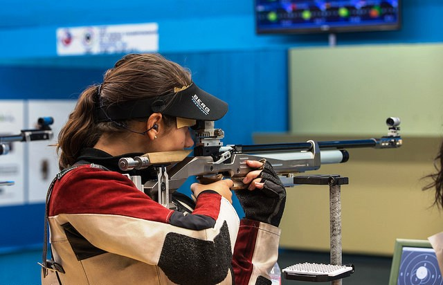 Italy's Petra Zublasing fired her way to World Championship gold with a late surge in Granada ©ISSF