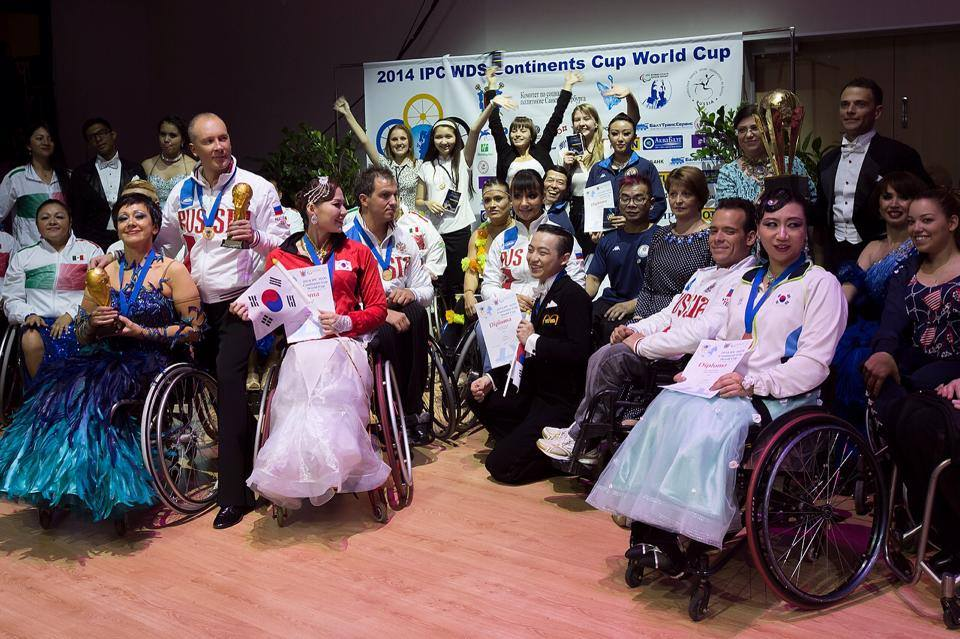 Russia won numerous gold medals at the 2014 IPC Wheelchair Dance Sport Continents Cup ©Facebook/IPC