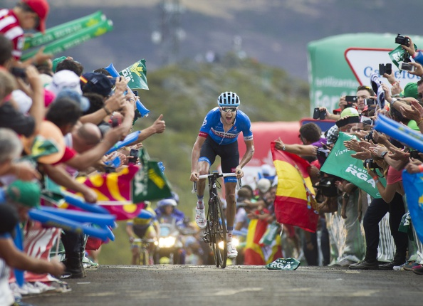 Ryder Hesjedal powers to victory on stage 14 of the Vuelta a España ©AFP/Getty Images