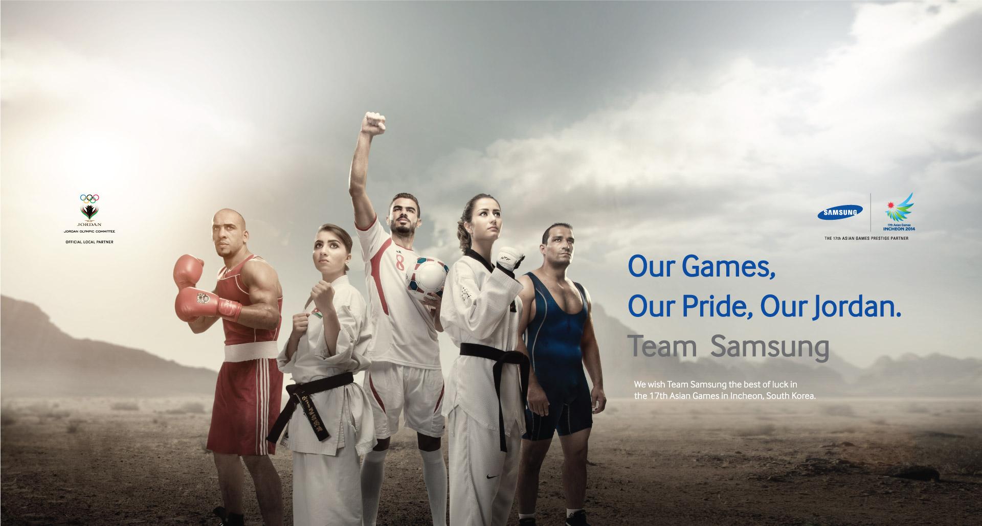 Samsung will support the Jordanian delegation at Incheon 2014 ©JOC