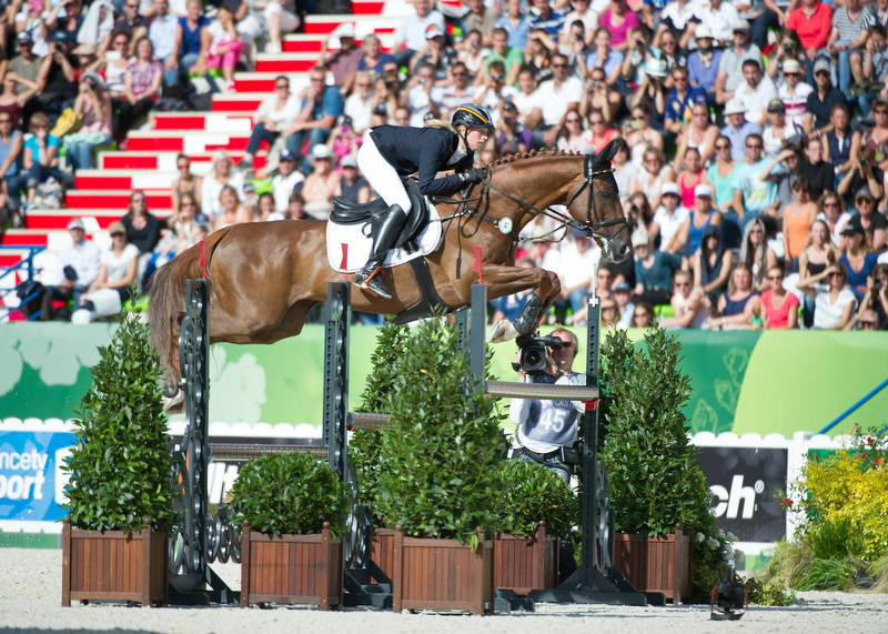 Sandra Auffarth and Opgun Louvo were foot-perfect throughout to take individual eventing gold and lead the Germans to team gold at the World Equestrian Games ©FEI