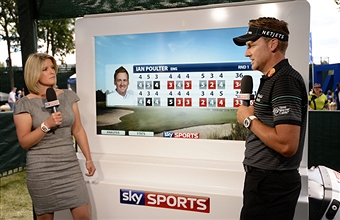 Sarah Stirk (left) will be presenting Sky Sports' highlights programming while Ian Poulter (right) will be competing for Europe ©Getty Images
