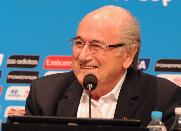 Sepp Blatter has received the backing of CAF ahead of next years FIFA presidential election ©Getty Images