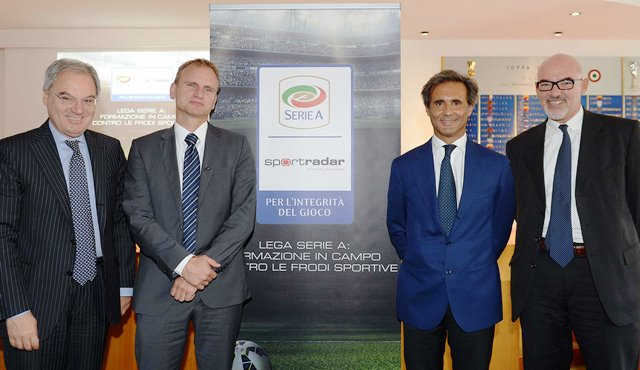 Serie A and Sportradar have launched the first of a series of workshops aimed at educating young players on the dangers of match-fixing ©Sportradar