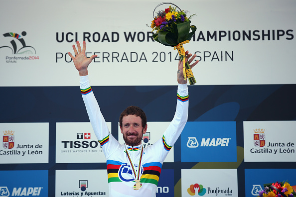 Sir Bradley Wiggins has won the men's time trial at the UCI Road World Championships in Ponferrada, Spain ©Getty Images
