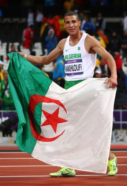 Taoufik Makhloufi was Algeria's sole gold medal winner at the London 2012 Olympic Games ©Getty Images