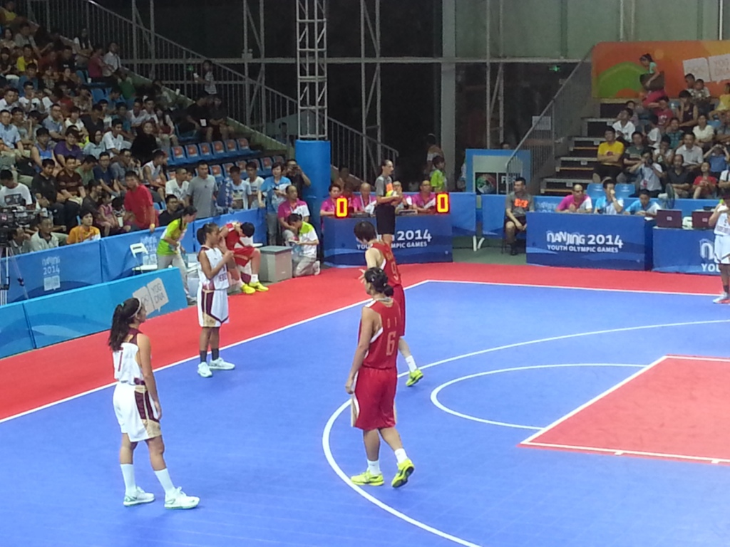 The 3x3 basketball discipline at Nanjing 2014 gave 31 nations the opportunity to compete at the Games rather than the six that would have competed in the 5x5 format of the sport ©ITG