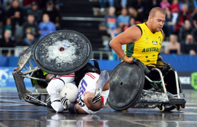 The APC hopes to use athletes such as wheelchair rugby star Ryley Batt to promote a new safety in the workplace campaign ©AFP/Getty Images