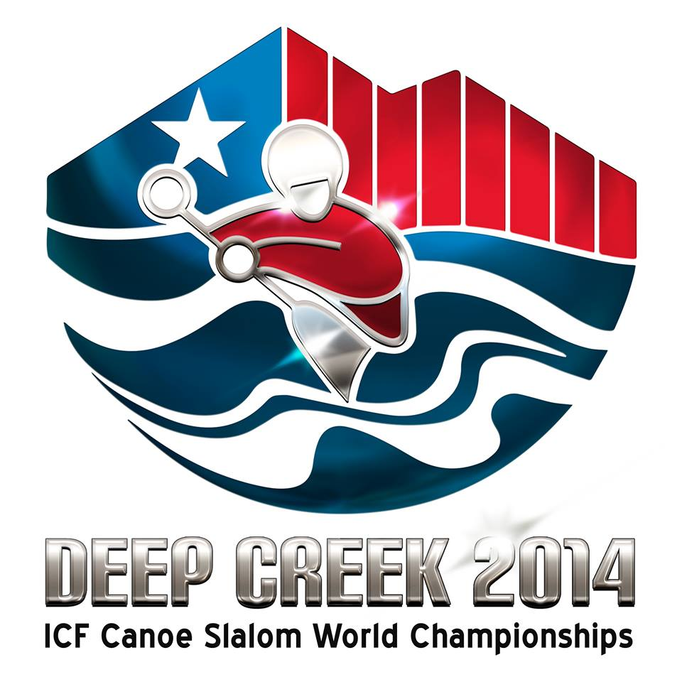 The Deep Creek 2014 ICF Canoe Slalom World Championships logo Deep Creek 2014 © Deep Creek 2014