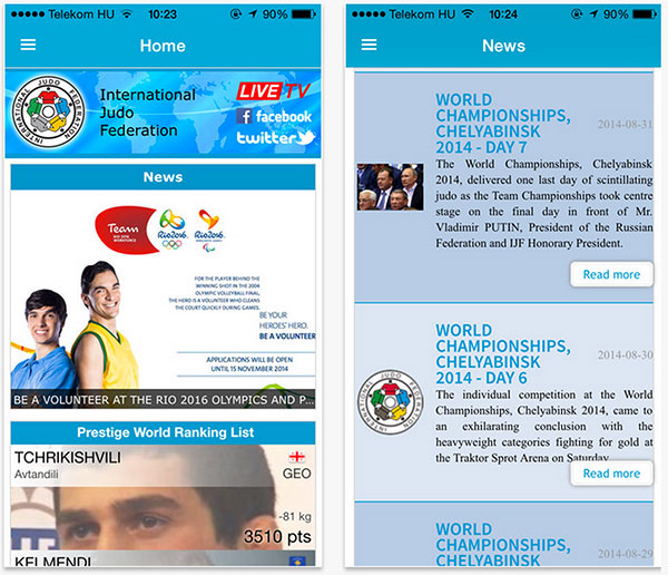 The IJF has released its new iPhone and Android mnobile applications ©IJF