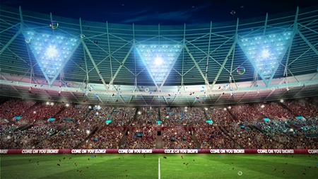 The inside of the Olympic Stadium once renovation work has been completed ahead of West Ham's move in 2016 ©West Ham