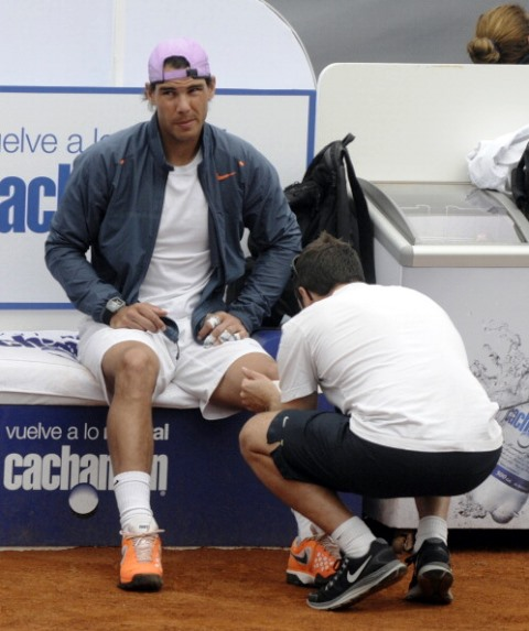 The use of PRP to treat injuries used by the likes of Rafael Nadal will be discussed at a lecture at COE headquarters in Madrid ©AFP/Getty Images