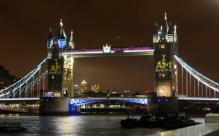 """The words """"I am Invictus"""" were projected on to the iconic Tower Bridge ©Invictus Games"""