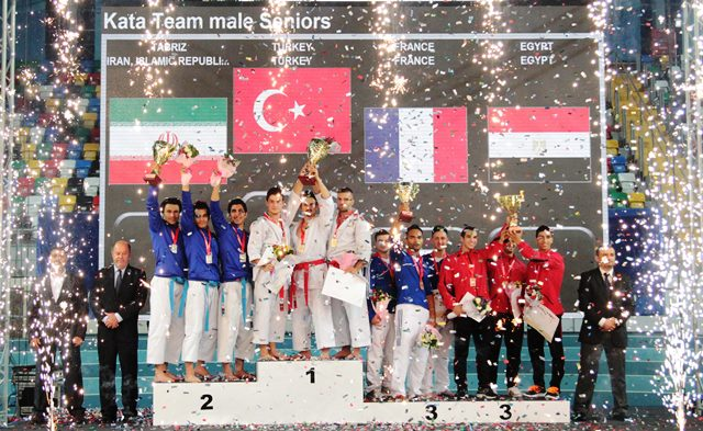 Turkey emerged with four gold medals at the WKF Premier League meeting in Istanbul ©WKF