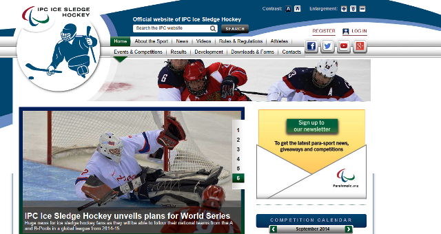 IPC Ice Sledge Hockey has launched a new look website ©IPC