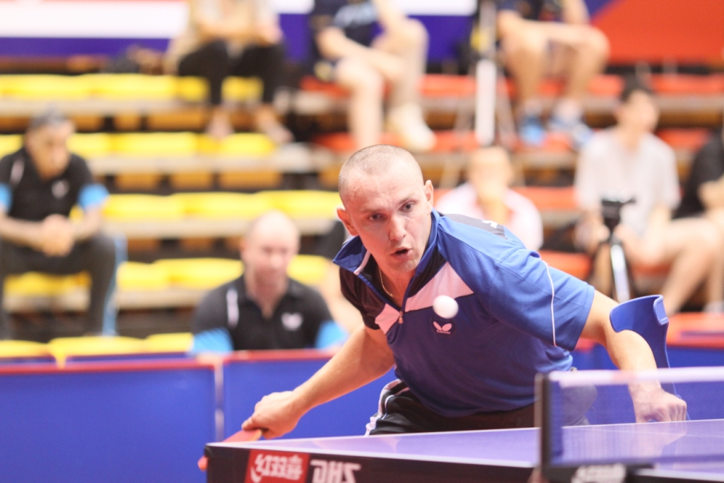 Viktor Didukh caused a stir at the ITTF Table Tennis World Championships after he helped Ukraine top their group with victory against Poland ©ITTF