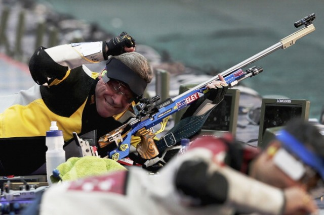 Australian Warren Potent has secured a place at his fifth Olympic Games by securing gold in the men's 50m rifle prone at the World Shooting Championships in Granada ©Getty Images