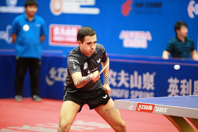 Will Bayley secured his first world title beating Ukrainian Maksym Nikolenko in Beijing ©ITTF
