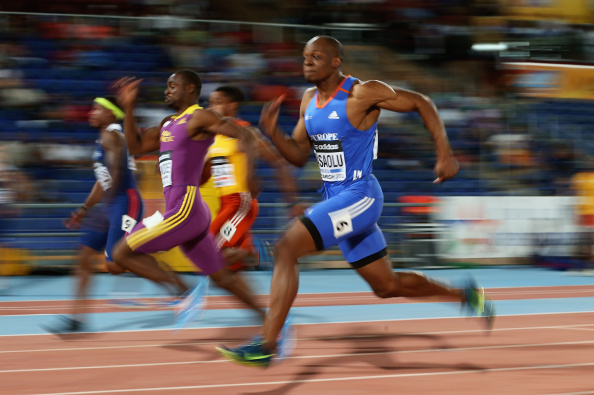 Britain's James Dasaolu en route to winning the men's 100m for Team Europe at the IAAF Continental Cup ©Getty Images