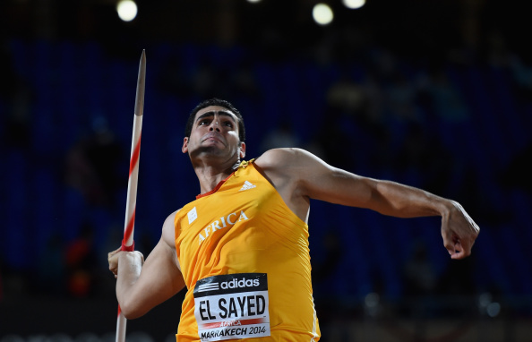 Ihab El-Sayed became the first non-European to win the men's javelin in this format of competition ©Getty Images
