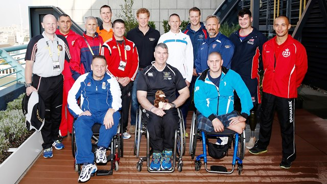 Prince Harry has met with the captains of all the nations taking part in this week's Invictus Games ©Getty Images