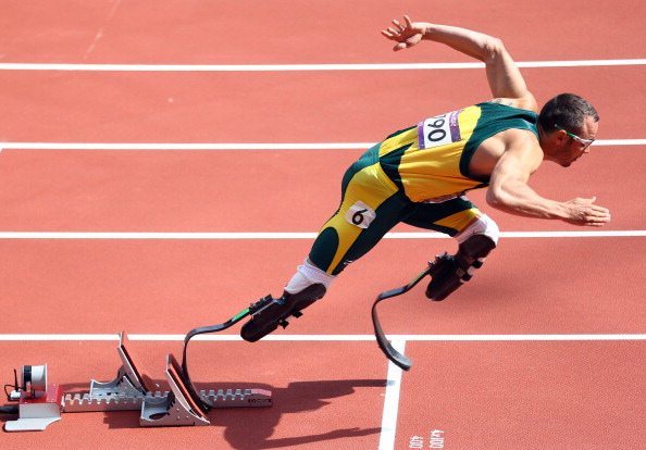 Oscar Pistorius, pictured in the 400m heats at the London 2012 Olympics, will be free to return to the track once he has satisfied the South African legal system, the IPC says ©Getty Images