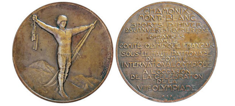 A Chamonix 1924 Winter Olympic bronze medal is estimated to fetch $15,000 at auction ©Ingrid O'Neil
