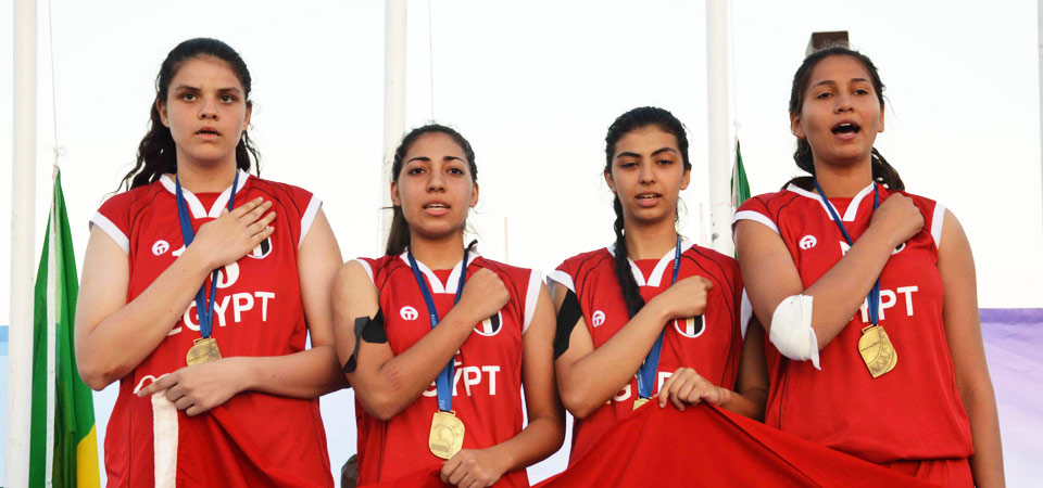 Egypt won a total of 44 gold medals at Gaborone 2014, including the girls 3x3 basketball ©Gaborone 2014