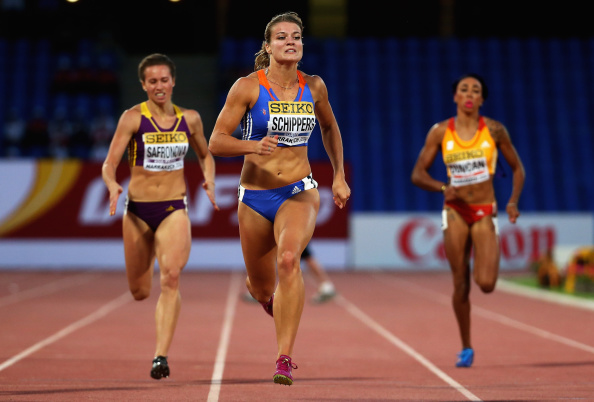Dafne Schippers wins the longer sprint for Team Europe ©Getty Images