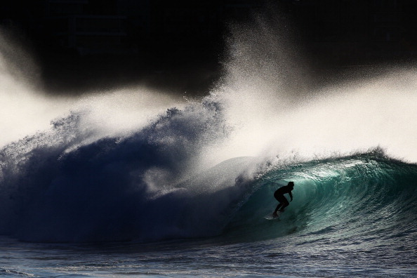 A surfer at Bronte Beach, Sydney in 2012. Music and images combine to form a heady promotion for this coolest of sports ©Getty Images
