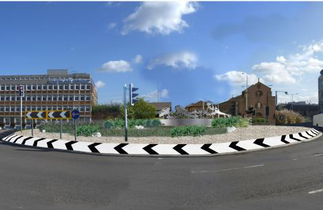 A London 2012-themed sculpture is set to be erected on a roundabout in Waltham Cross ©Broxbourne Council