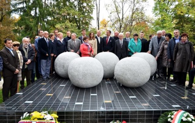 A Memorial Monument to Slovakian Olympians has been unveiled at the National Cemetery in Martin ©SOC