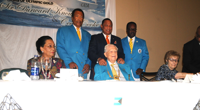 A luncheon was held to celebrate the 50th anniversary of Sir Durward Knowles and Cecil Cooke winning the Bahamas first Olympic gold medal ©BahamasOlympicCommittee