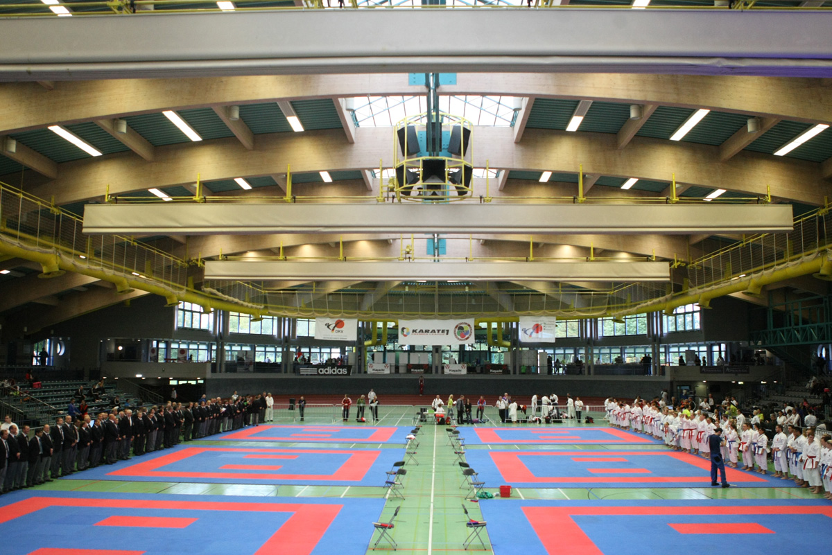 A record 874 athletes from 50 countries registered for the WKF Premier League meeting at the August-Scharttner Halle in Hanau ©WKF