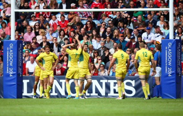 A world record rugby sevens crowd of 171,000 attended the two days of action at Ibrox Stadium during Glasgow 2014 ©Getty Images