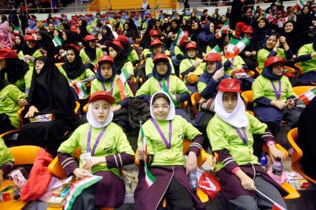 Around 8,000 children with disabilities took part in National Paralympic Day celebrations in Tehran ©Iran NPC