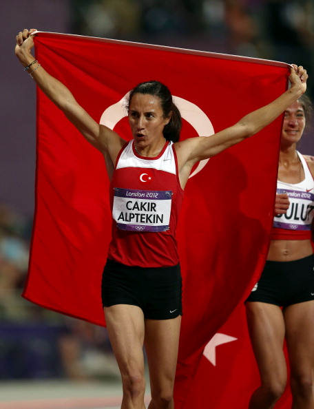 Aslı Çakır Alptekin is one of a number of Turkish athletes caught in a doping storm last year, although the London 2012 1500m champion initially had her case cleared by the Turkish Athletics Federation before the IAAF appealed against the decision ©Getty Images
