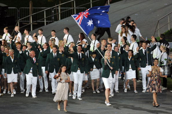 Australia's Sportscraft designed kit worn at the Opening Ceremony of London 2012 was widely praised ©Getty Images