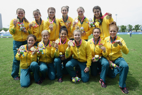 Australia's women won the rugby sevens tournament at the Nanjing 2014 Summer Youth Olympic Games, a good sign for the sport's Olympic debut at Rio 2016 ©Getty Images