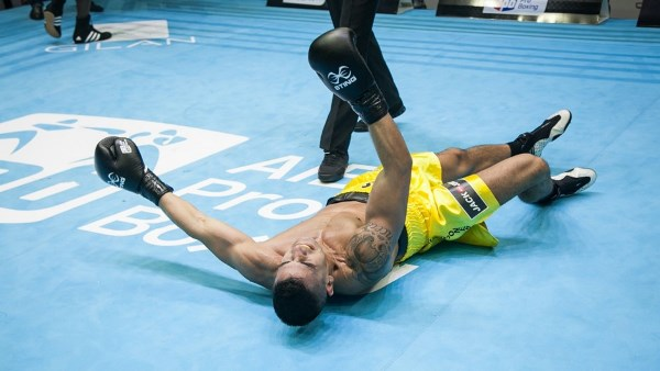 Austria's Marcos Nader, the number one seed, was knocked out by Kenya's Rayton Nduku Okwiri ©AIBA Pro Boxing