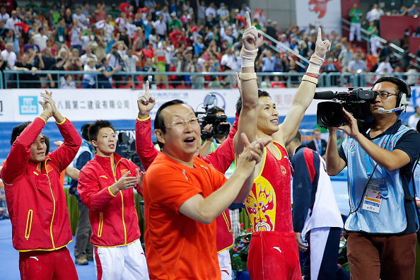 China have sealed their sixth successive men's team title with a narrow victory at the Artistic Gymnastics World Championships ©Getty Images