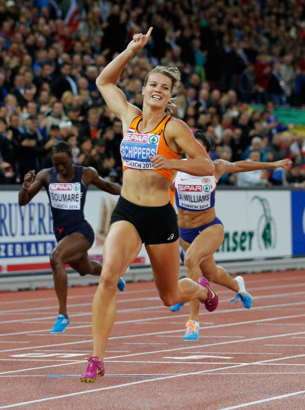 The Netherlands Dafne Schippers is among the women shortlisted for the IAAF World Athlete of the Year after winning the 100 and 200 metres at the European Champioships in Zurich ©Getty Images