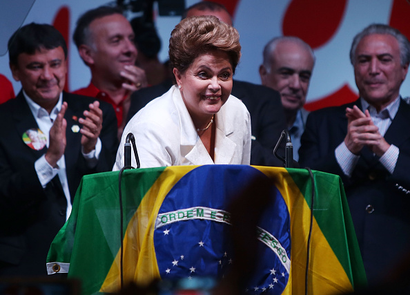 Dilma Rousseff has been congratulated on her re-election as Brazilian President by Thomas Bach ©Getty Images